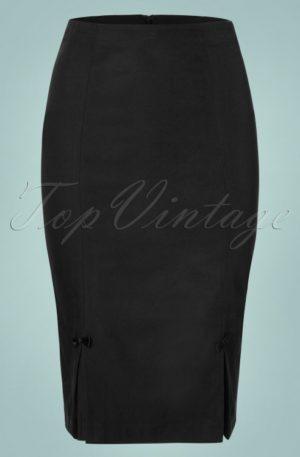 50s Guideing Light Pencil Skirt in Black