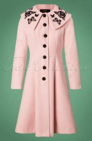 50s Hermione Coat in Pink