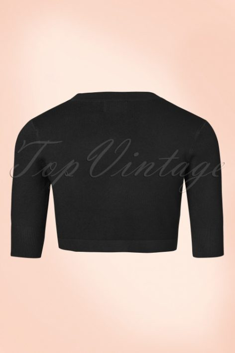 50s Hudson Bolero in Black
