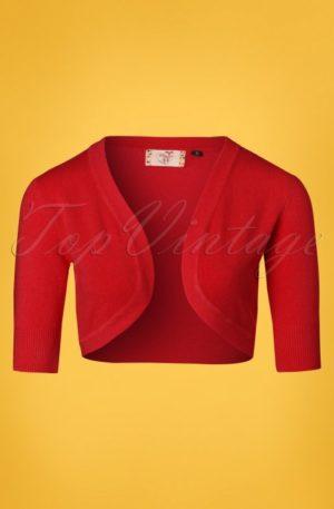 50s Hudson Bolero in Dark Red