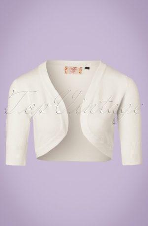 50s Hudson Bolero in Ivory White
