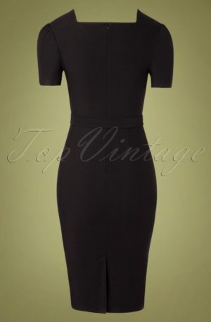 50s Indulgence Pencil Dress in Black