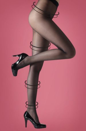 50s Invisible Shaper Tights in Black