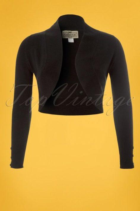 50s Jean Knitted Bolero in Black