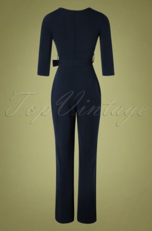 50s Jillian Jumpsuit in Navy