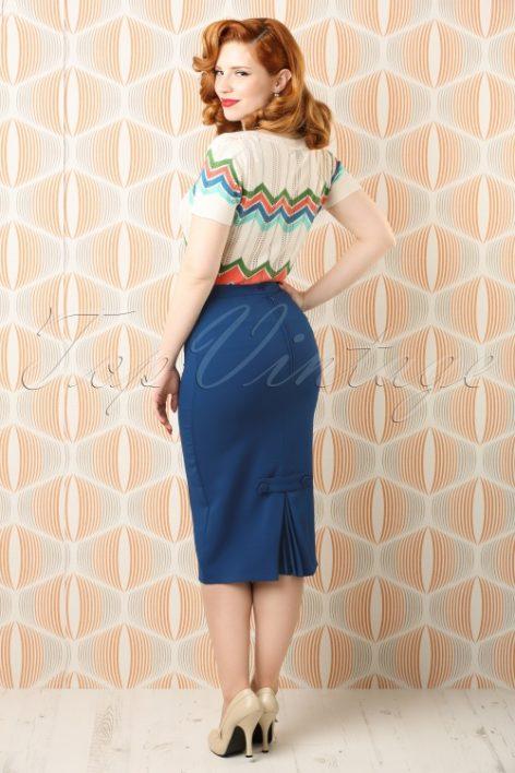 50s Joni Skirt in Navy