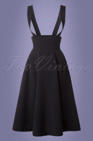 50s Jumper Swing Skirt in Black