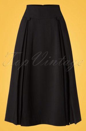 50s Kennedy Swing Skirt in Black