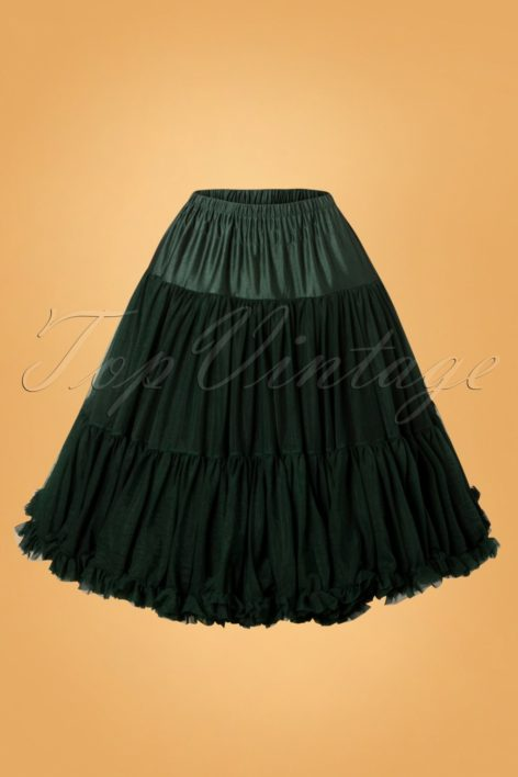 50s Lola Lifeforms Petticoat in Bottle Green