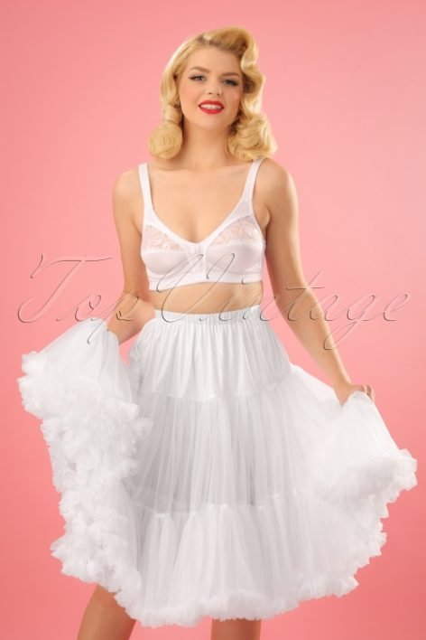 50s Lola Lifeforms Petticoat in White