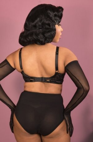 50s Lulu Noir High Waist Knickers in Black