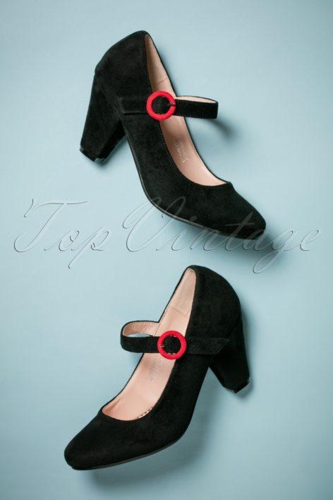 50s Marianne High Heel Pumps in Black