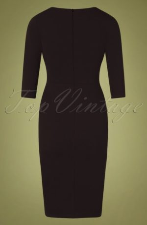 50s Mirabella Pencil Dress in Black