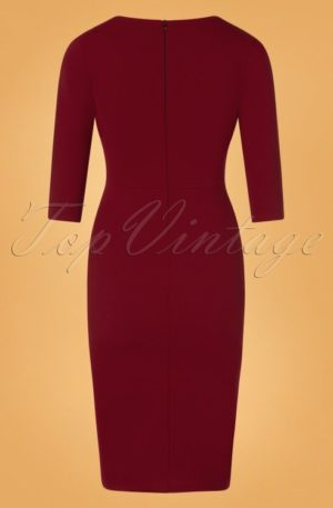 50s Mirabella Pencil Dress in Wine