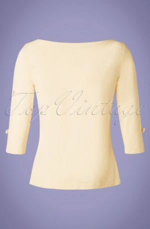 50s Oonagh Top in Cream