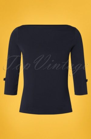 50s Oonagh Top in Navy