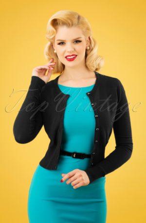 50s Paloma Cardigan in Black