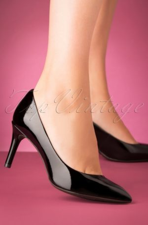 50s Patent Leather Pumps in Black