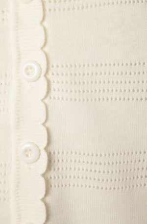 50s Pointelle Cardigan in Cream