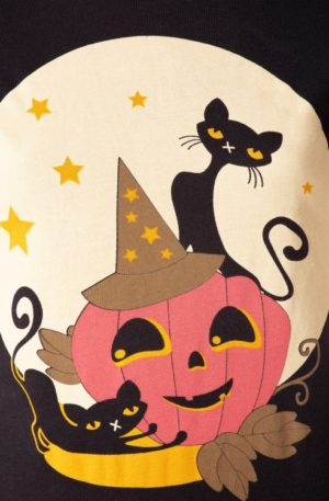 50s Pumkin T-Shirt in Black