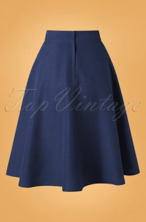 50s Sally Swing Skirt in Navy
