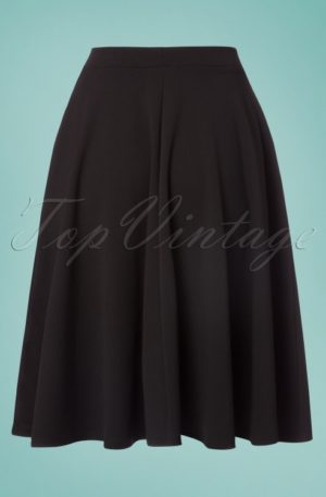 50s Sheila Swing Skirt in Black