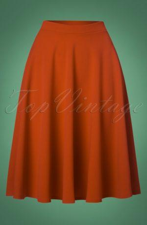 50s Sheila Swing Skirt in Cinnamon