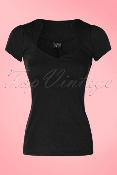 50s Sophia Top in Black