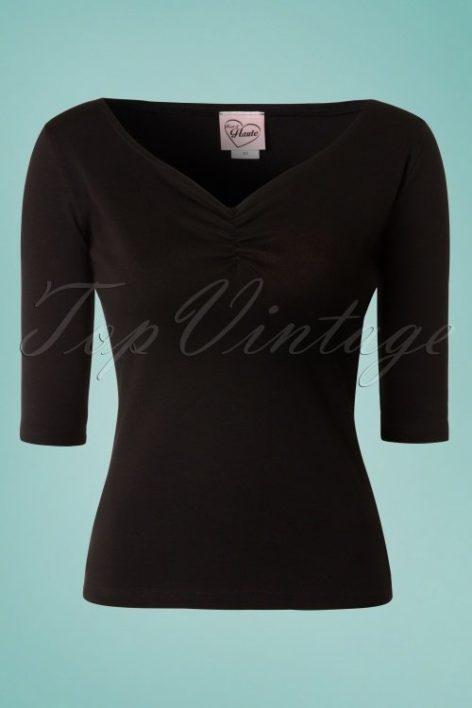 50s Terri Top in Black
