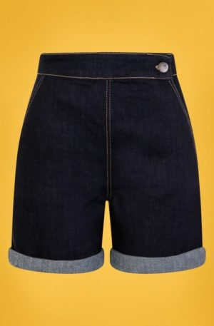 50s Yaz Denim Shorts in Navy