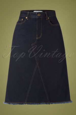 60s Boyz Skirt in Blue Rinse