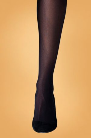 60s Eco Yarn Tights in Black