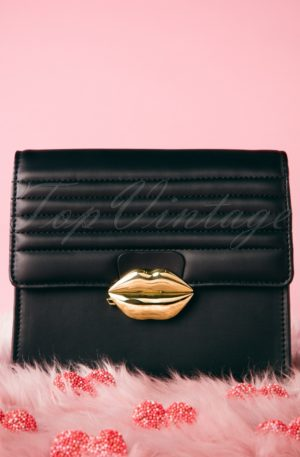 60s Mini Love Handbag in Black