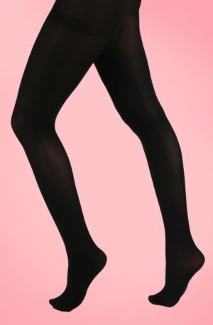 60s Opaque Tights in Black
