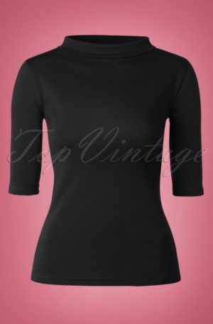60s Spy Top in Black