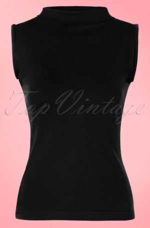 60s Trixie Top in Black