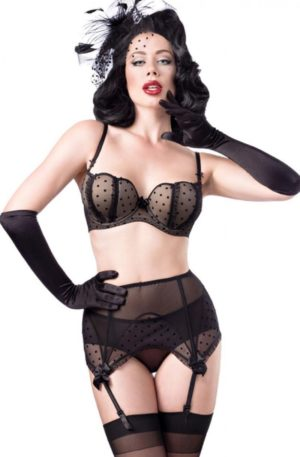 Belsira Dessous Set Burlesque, 4-teilig von Rockabilly Rules