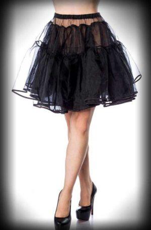 "Belsira Petticoat kurz ""Rockabella"" – schwarz von Rockabilly Rules"