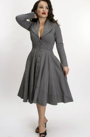 Bettie Page Clothing – Kleid Ursula mit Hahnentrittmuster | Houndstooth von Rockabilly Rules