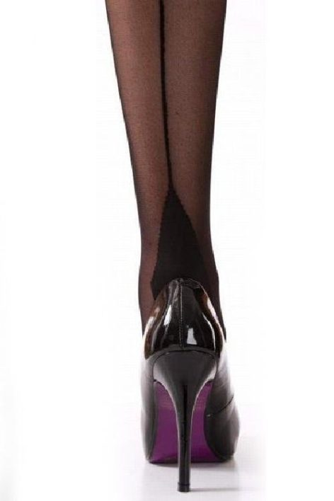 Classic Seamer Tights in Black