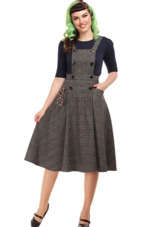 Collectif Sekretärinnen Kleid Brenda | Librarian Check 40s Dress von Rockabilly Rules