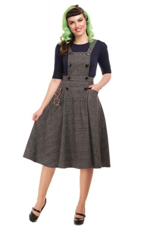 Collectif Sekretärinnen Kleid Brenda | Librarian Check 40s Dress von Rockabilly Rules