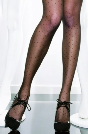 Dezire Polka Dot Tights in Black