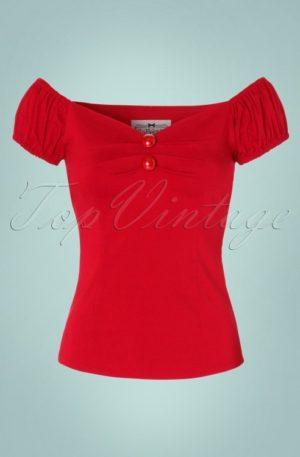 Dolores top Carmen red