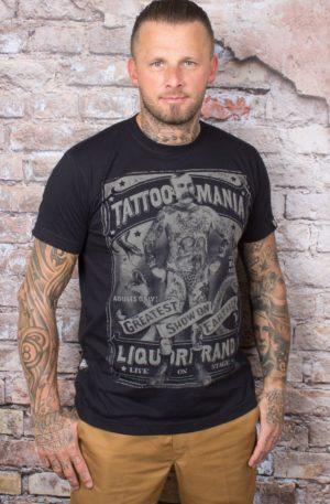 Liquor Brand T-Shirt – Tattoo Mania von Rockabilly Rules