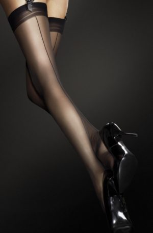 Marlena Seamed Stockings in Black