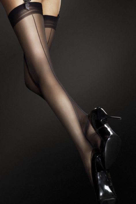Marlena Seamed Stockings in Black