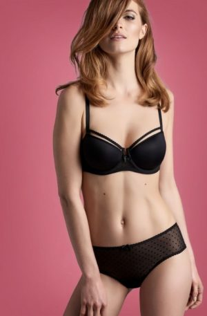 Peekaboo Brazilian Briefs in Black