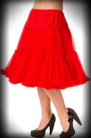 Petticoat lang Rockabella – rot von Rockabilly Rules