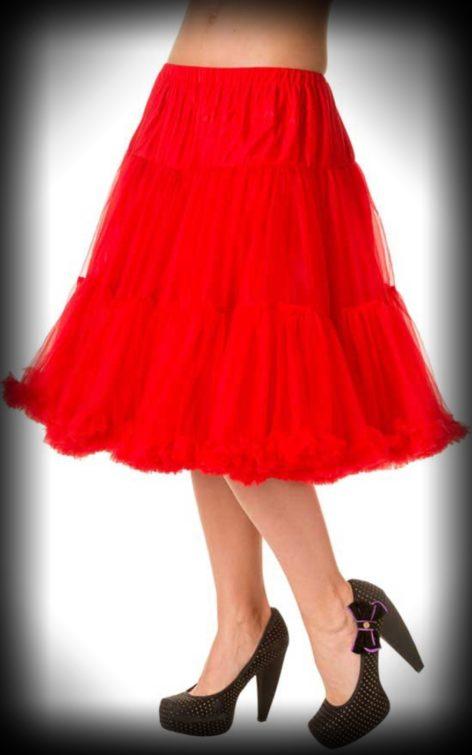 Petticoat lang Rockabella - rot von Rockabilly Rules